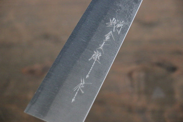 Yoshimi Kato Blue Super Clad Nashiji Petty-Utility Japanese Chef Knife 150mm - Seisuke Knife