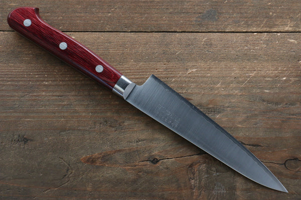 Takamura Knives R2/SG2 Petty-Utility Japanese Knife 130mm with Red Pakka wood Handle - Seisuke Knife