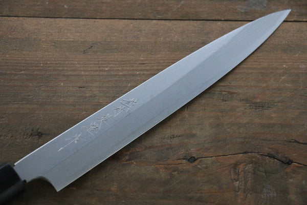 Hideo Kitaoka White Steel No.2 Damascus Yanagiba Japanese Chef Knife 210mm