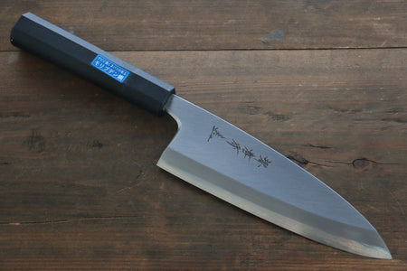 Hideo Kitaoka White Steel No.2 Damascus Deba Japanese Chef Knife 165mm