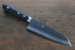 Seisuke VG1 Hammered Santoku Japanese Kitchen Chef Knife 165mm - Seisuke Knife