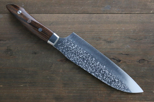 Kurosaki Shizuku R2/SG2 Hammerd Santoku Japanese Chef Knife 180mm with Iron Wood Handle