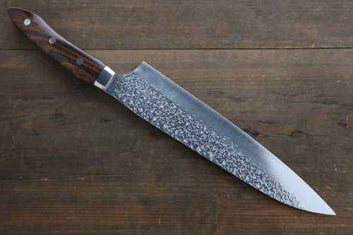 Kurosaki Shizuku R2/SG2 Hammerd Gyuto Japanese Chef Knife 240mm with Iron Wood Handle