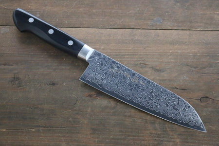 Shigeki Tanaka Blue Steel 17 Layer Damascus Japanese Chef's Santoku Knife 165mm