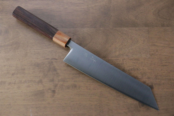 Saji R2/SG2 Diamond Finish Damascus Nakiri Japanese Chef Knife 170mm wtih Iron Wood handle