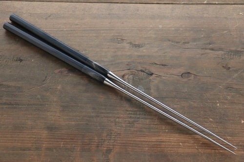 Moribashi Japanese cooking chopstick with ebony and water buffalo horn handle
