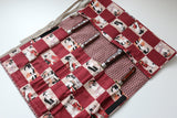 Japanese Style Knife Roll Akakabuki-Ura-Akakasuri 4 Pockets - Seisuke Knife