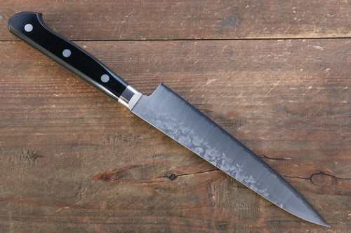 Takamura Knives VG10 Hammered Petty-Utility Japanese Knife 150mm with Black Pakka wood Handle