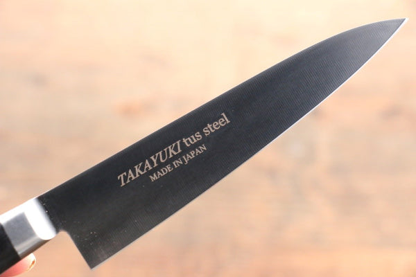 Sakai Takayuki TUS Steel Petty Japanese Chef Knife 120mm with Black Ply Wood Handle