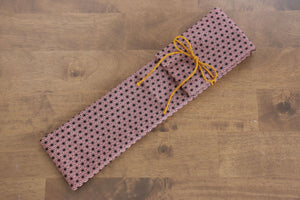 Japanese Style Knife Roll - Pink Stars (1 Pocket) - Seisuke Knife