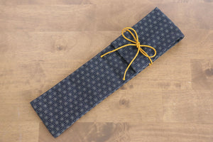 Japanese Style Knife Roll - Navy Stars (1 Pocket) - Seisuke Knife