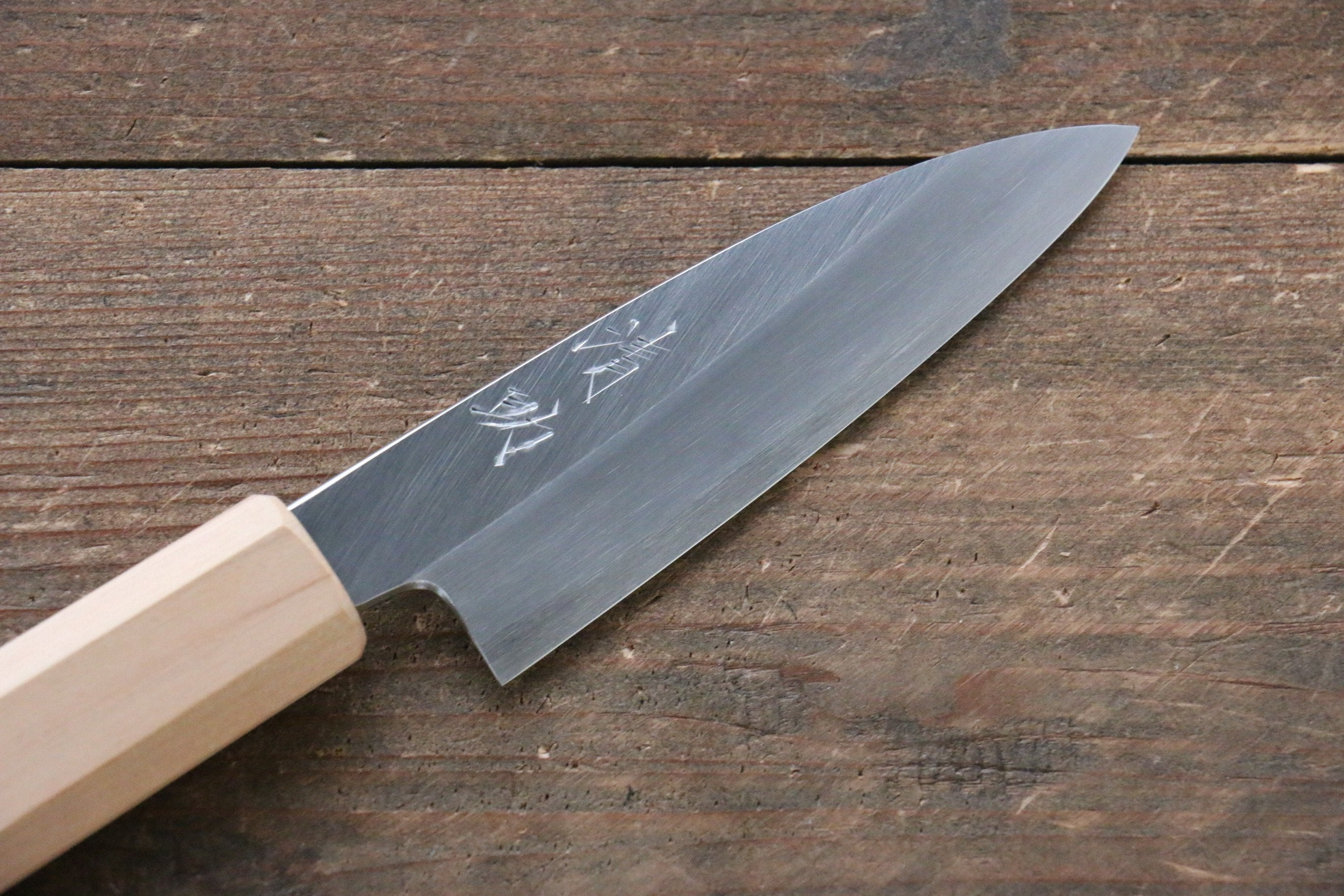 Seisuke Silver Steel No.3 Paring Japanese Knife 85mm with Cherry Blossoms Handle - Seisuke Knife