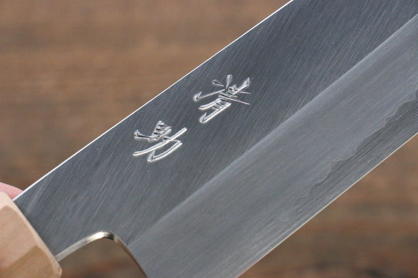 Seisuke Silver Steel No.3 Santoku Japanese Knife 180mm with Cherry Blossoms Handle - Seisuke Knife