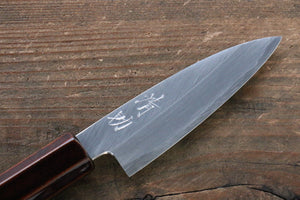 Seisuke Silver Steel No.3 Paring Japanese Knife 85mm with Lacquered Handle - Seisuke Knife