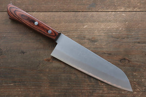 Kunihira VG1 Nashiji Santoku Japanese Knife 170mm with Mahogany Handle - Seisuke Knife