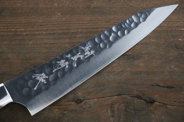 Kurosaki Blue R2 Clad Hammered Petty Japanese Chef Knife 150mm Special Handle