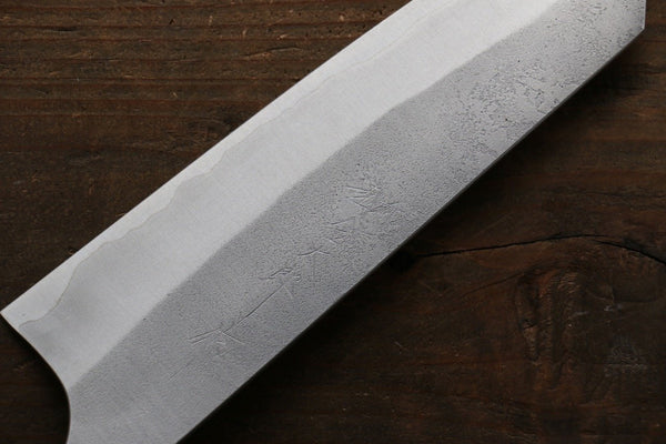 Yoshimi Kato Blue Super Clad Nashiji Bunka Japanese Chef Knife 165mm - Seisuke Knife