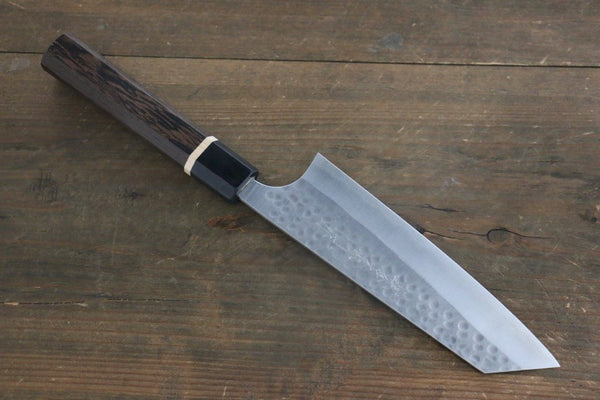 Yoshimi Kato Silver Steel No.3 Hammered Bunka Japanese Chef Knife 165mm Special Handle