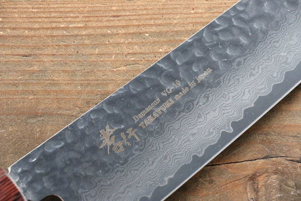 Sakai Takayuki VG10 33 Layer Damascus Gyuto Chef Knife 240mm with Keyaki Handle (Japanese Elm) - Seisuke Knife