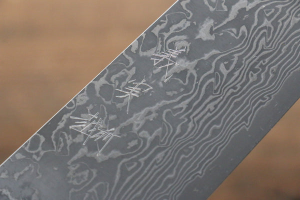 Yoshimi Kato VG10 Damascus Gyuto Japanese Knife 210mm with Black Pakka wood Handle with Saya - Seisuke Knife