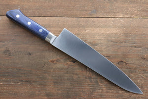 Seisuke Molybdenum Gyuto Japanese Knife 210mm with Blue Pakka wood Handle with Saya - Seisuke Knife