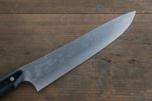 Takeshi Saji Coreless Damascus Gyuto Japanese Chef Knife 240mm wtih Nomura Black Micarta Handle - Seisuke Knife