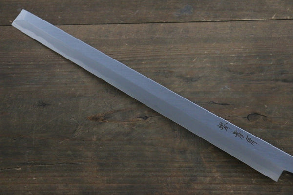 [Left Handed] Sakai Takayuki Kasumitogi White Steel Takohiki Japanese Chef Knife with Water Buffalo Handle
