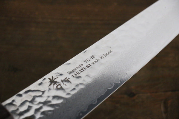 New! Sakai Takayuki VG10 33 Layer Damascus Gyuto Knife 210mm with American Cherry Handle