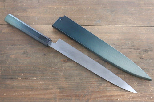 Indigo Bocho White Steel No.2  Yanagiba Japanese Chef Knife 240mm with Indigo Dyed Saya