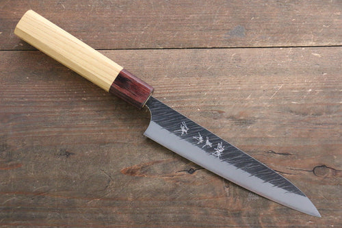 Yu Kurosaki Fujin Blue Super Petty-Utility Knife 150mm with Keyaki  (Japanese Elm) Handle - Seisuke Knife