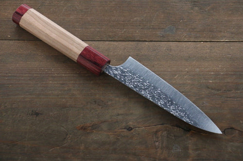 Yu Kurosaki Shizuku R2/SG2 Hammered Petty Japanese Chef Knife 120mm with American Cherry Handle