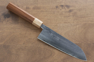 Kunihira VG1 Hammered Santoku Japanese Knife 170mm with Morado Handle - Seisuke Knife