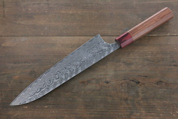 Yoshimi Kato R2/SG2 Damascus Gyuto Japanese Chef Knife 210mm with Honduras Rosewood Handle