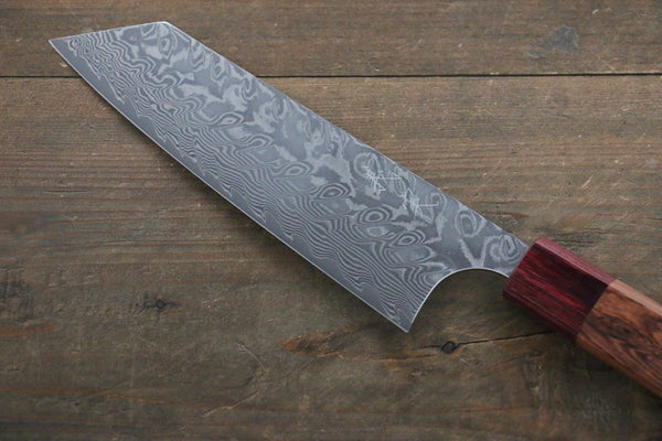 Yoshimi Kato R2/SG2 Damascus Bunka Japanese Chef Knife 165mm with Honduras Handle - Seisuke Knife