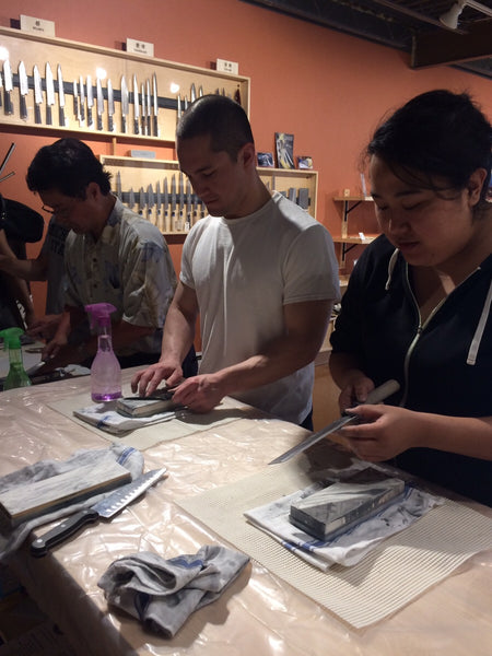 Knife Sharpening Class!