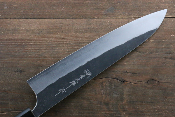 Yoshimi Kato Blue Super Kurouchi Gyuto Japanese Knife 240mm with Lacquered Handle with Saya