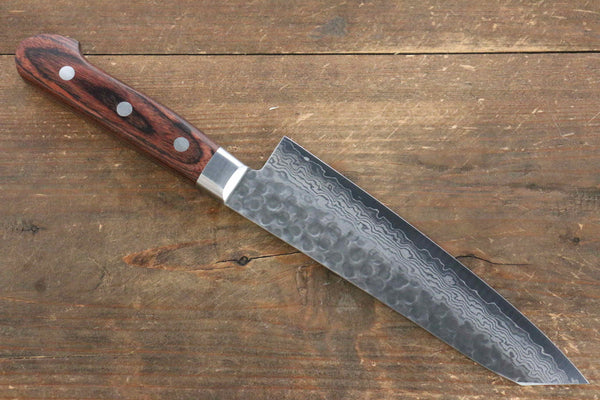 Jikko VG10 17 Layer Kiritsuke Gyuto Japanese Knife 170mm Mahogany Handle - Seisuke Knife