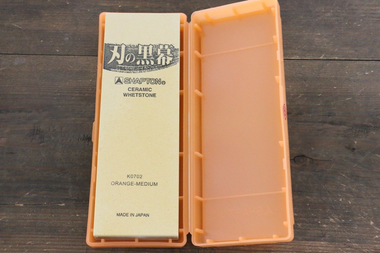 Shapton Kuromaku Series Medium Sharpening Stone Orange - #1000 - Seisuke Knife