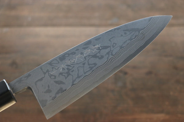 Hideo Kitaoka Blue Steel No.2 Damascus Deba Japanese Chef Knife 180mm