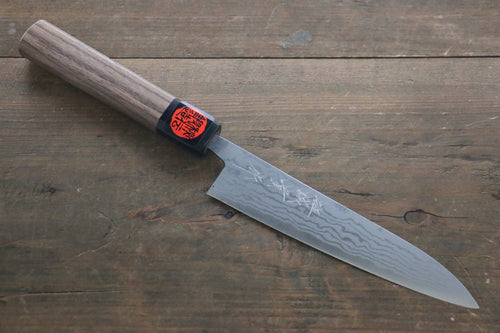 Shigeki Tanaka Blue Steel No.2 Damascas Petty Japanese Chef Knife 150mm