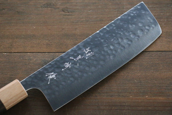 Yu Kurosaki R2/SG2 steel Hammered Japanese Chef's Nakiri Knife 180mm