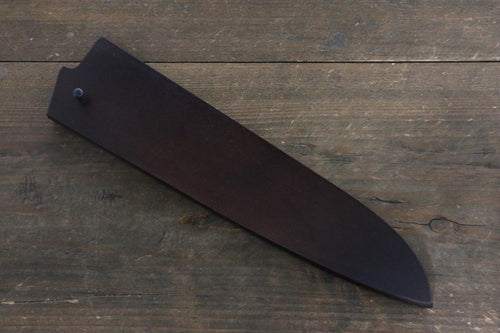 Brown Saya Sheath for Gyuto Knife with Plywood Pin 210mm