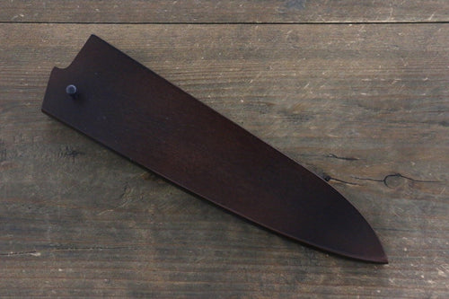Brown Saya Sheath for Gyuto Chef's Knife with Plywood Pin-180mm