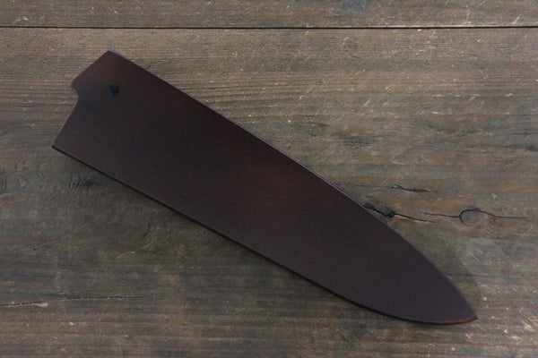 Brown Saya Sheath for Gyuto Chef's Knife with Plywood Pin-180mm - Seisuke Knife