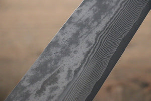 Takeshi Saji VG10 Black Damascus Gyuto Japanese Chef Knife 240mm with Iron Wood handle - Seisuke Knife