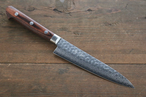 Seisuke 17 Layer Damascus Hammered Japanese Chef Petty Utility Knife 135mm