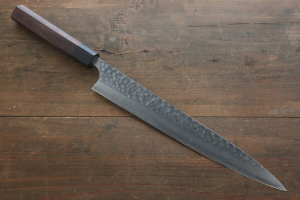 Yoshimi Kato Silver Steel No.3 Hammered Sujihiki Japanese Chef Knife 270mm - Seisuke Knife