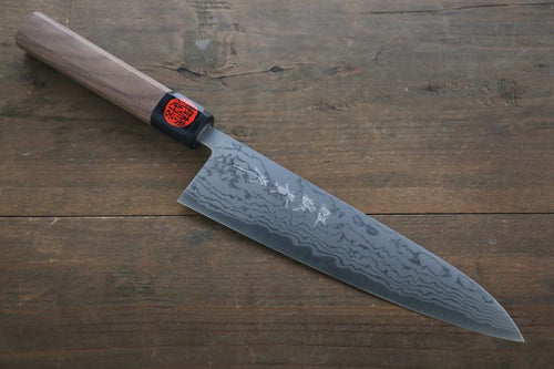 Shigeki Tanaka Blue Steel No.2  17 Layer Damascus Gyuto Japanese Chef Knife 210mm with Walnut Handle