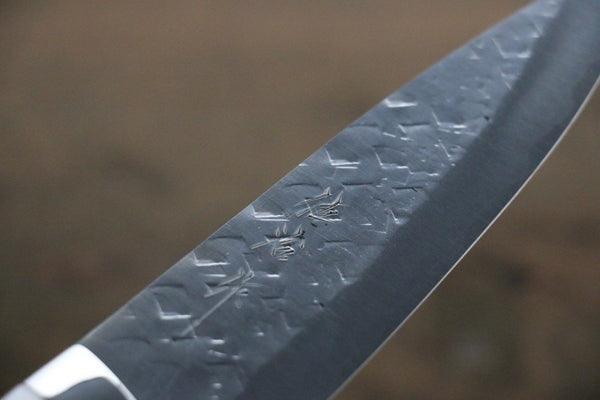 Takeshi Saji SRS13 Hammered Petty Japanese Chef Knife 130mm with White Stone Handle - Seisuke Knife