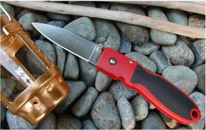 "Moki ""Feel Duck"" Red Pocket Knife - Seisuke Knife"